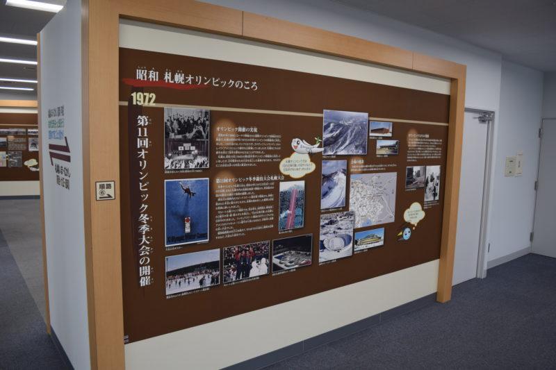 1972年札幌オリンピックの紹介パネル