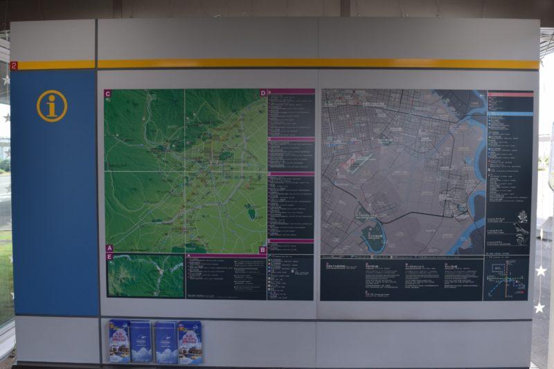 丘珠空港周辺の札幌市広域地図