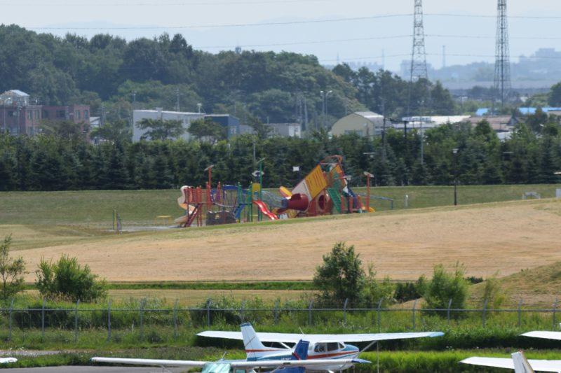 丘珠空港緑地みなみかぜ広場の遊具