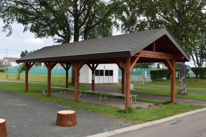 更別農村公園内にあるバーベキューコーナー