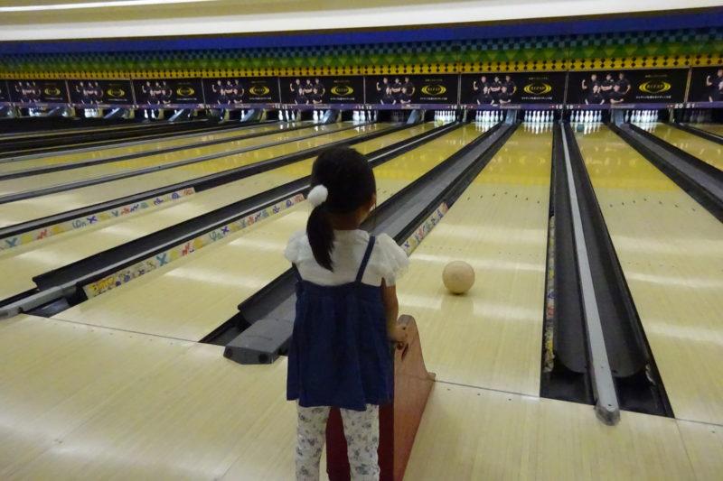 ディノスボウル札幌手稲店のキッズボウリングに初挑戦