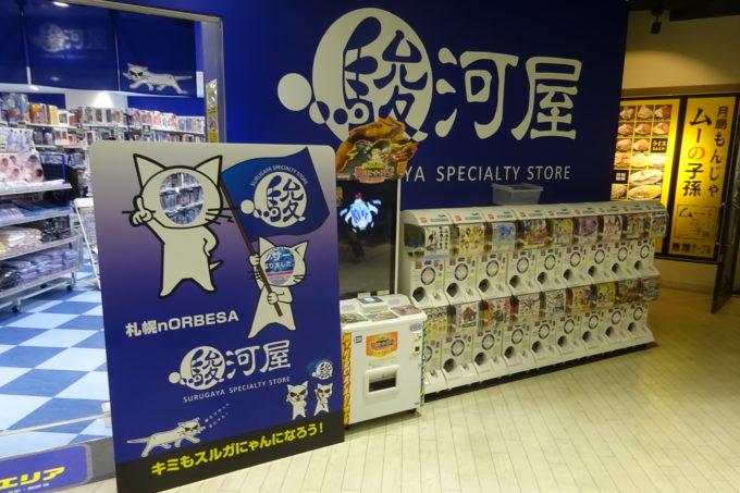 駿河屋札幌ノルベサ店顔ハメ看板