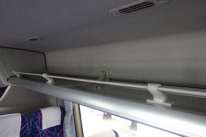新千歳空港連絡バス(北海道中央バス)の座席上棚