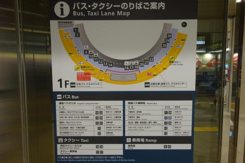 新千歳空港中央バスカウンター