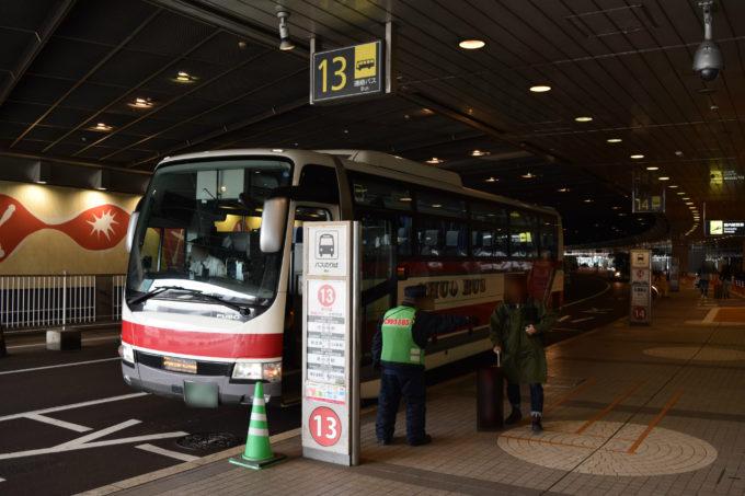 新千歳空港連絡バス乗り場(国内線ターミナルJAL到着口) 14・13・12