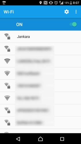 SSID「Jankara」を選択。
