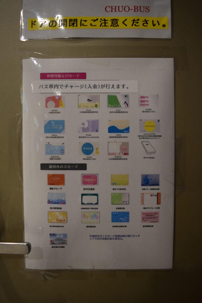 交通系ICカードで支払いしたい場合は北海道中央バス
