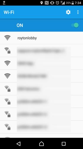 SSID「roytonlobby」を選択。