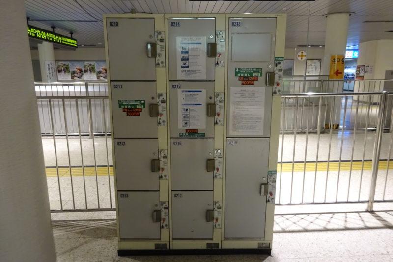 南北線南側駅事務室前コインロッカー(南改札口付近)