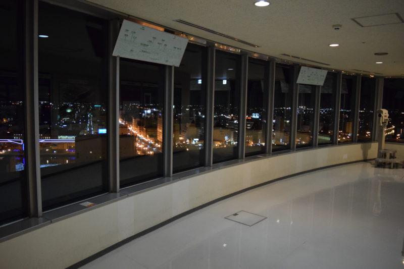 釧路市生涯学習センターまなぼっと幣舞展望室の夜景
