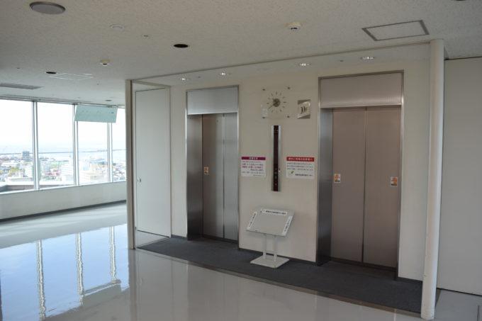 10階展望室のエレベーター前