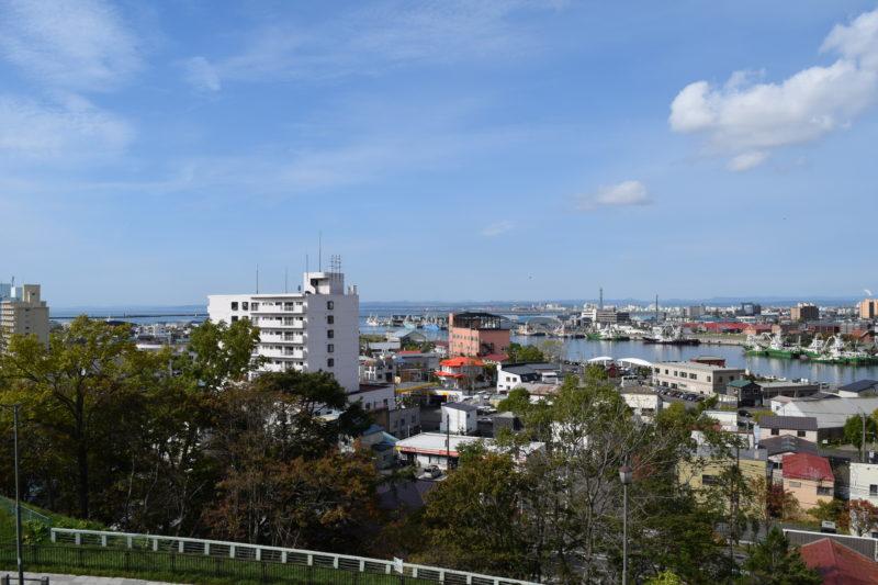 釧路川河口方面