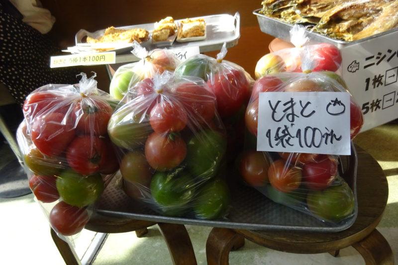トマト1袋100円