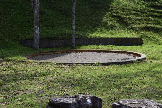 円形の砂場
