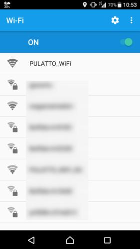 SSID「PULATTO_WiFi」を選択。