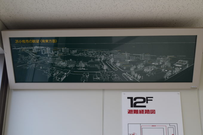 苫小牧市の眺望図(南東方面)