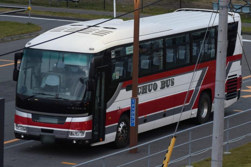 北海道中央バスの札幌行きバス車両