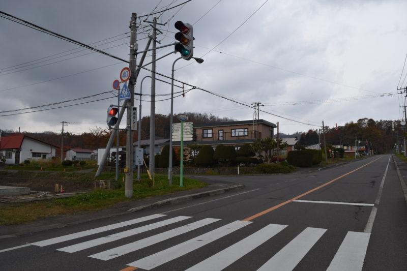 北海道道66号岩内洞爺線沿いにある「西胆振消防組合洞爺出張所」のある交差点