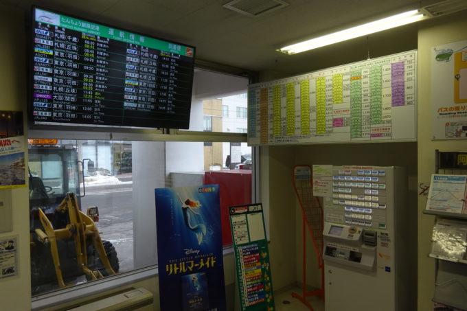 釧路駅前バスターミナルバス乗車券自動販売機