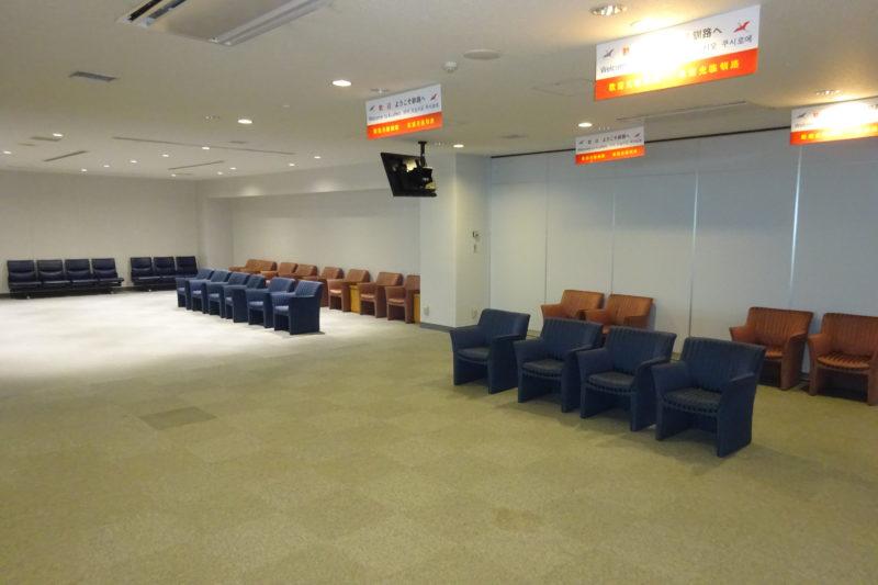 釧路空港搭乗口A付近にある待合所