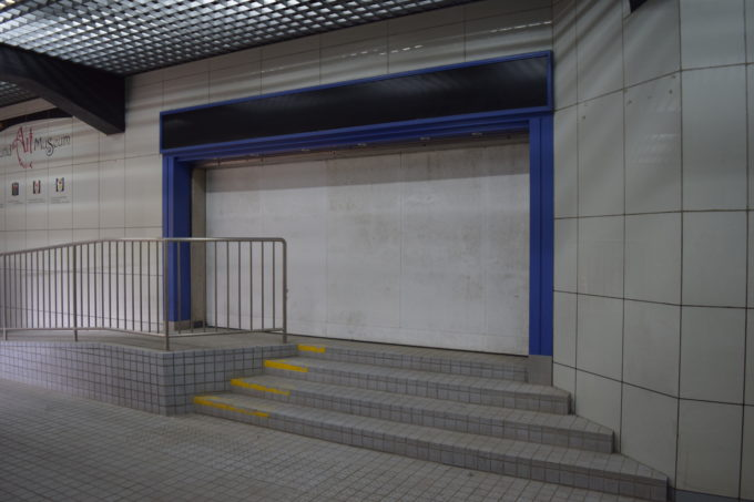 釧路ステーションデパートの出入口