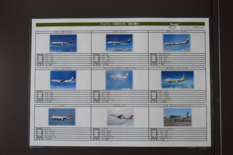 釧路空港に発着する運航機材