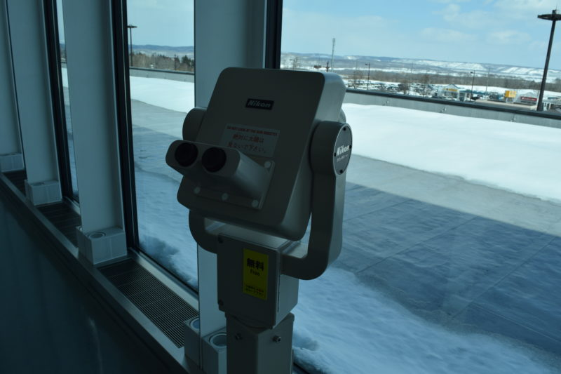 エレベーター付近にある観光望遠鏡