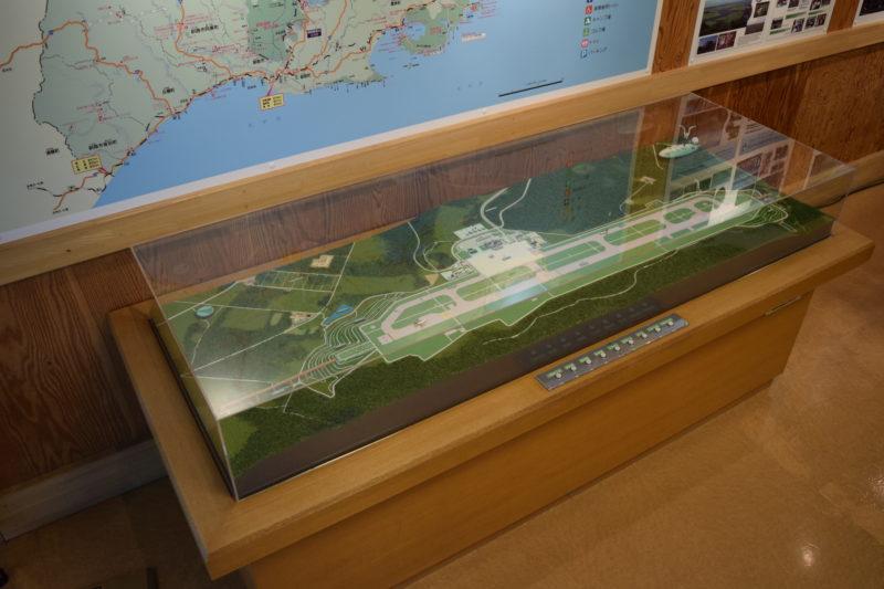 釧路空港の立体模型