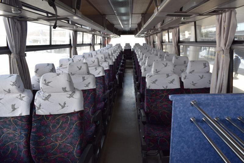 釧路空港連絡バス車内前方