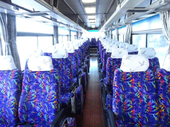 釧路空港連絡バス車内前方から