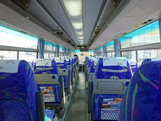 釧路空港連絡バス車内後方から
