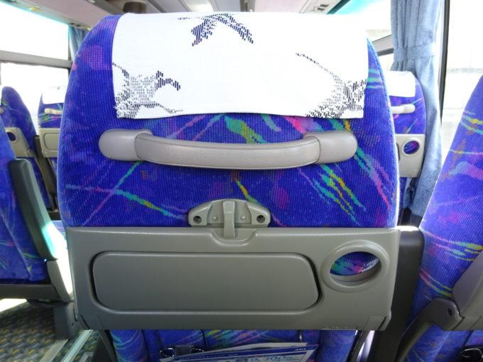 釧路空港連絡バス座席テーブル