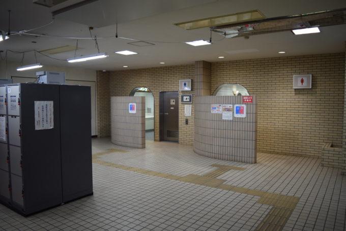 男女別トイレとバリアフリートイレ