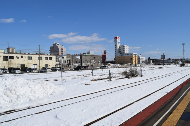 釧路駅1番線ホームから