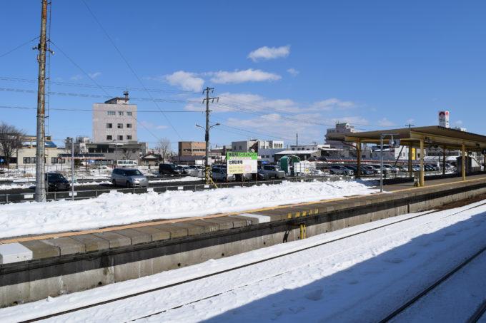 3番ホームから釧路駅パーク&トレイン北側駐車場