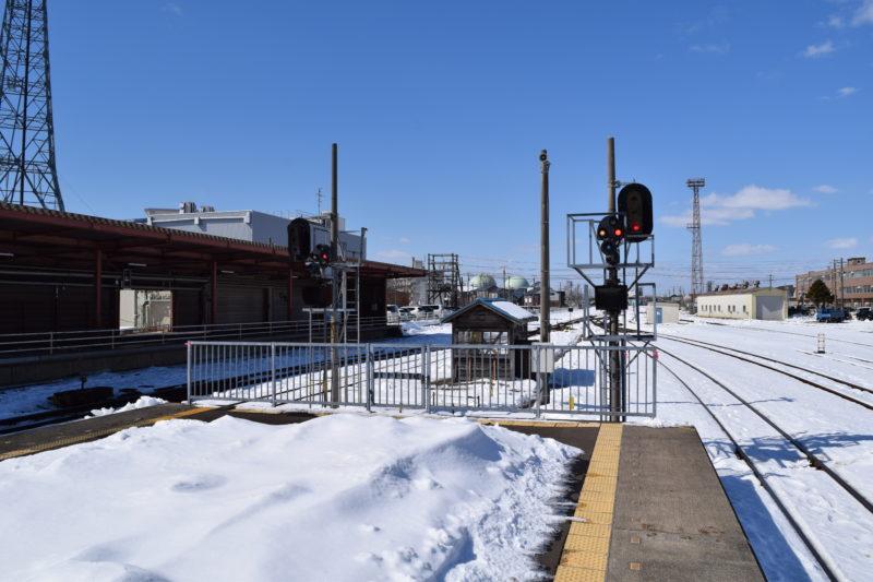 釧路駅出発反応標識