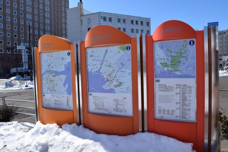 釧路駅主要部案内図・付近案内図・広域案内図