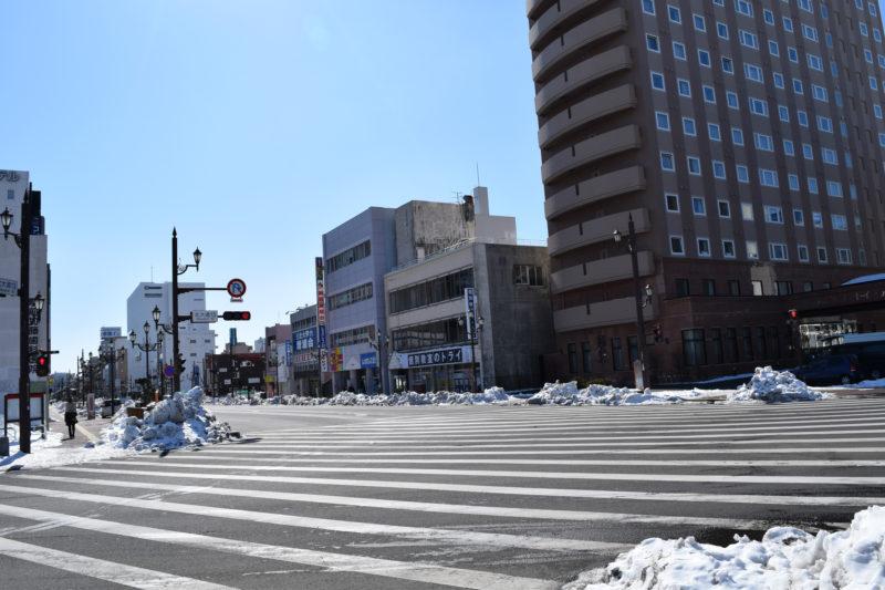 釧路駅前から北大通