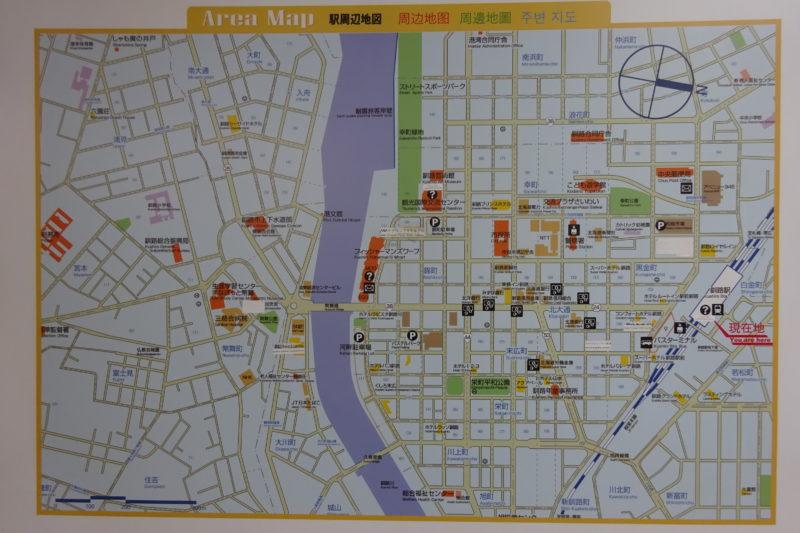 釧路駅周辺地図