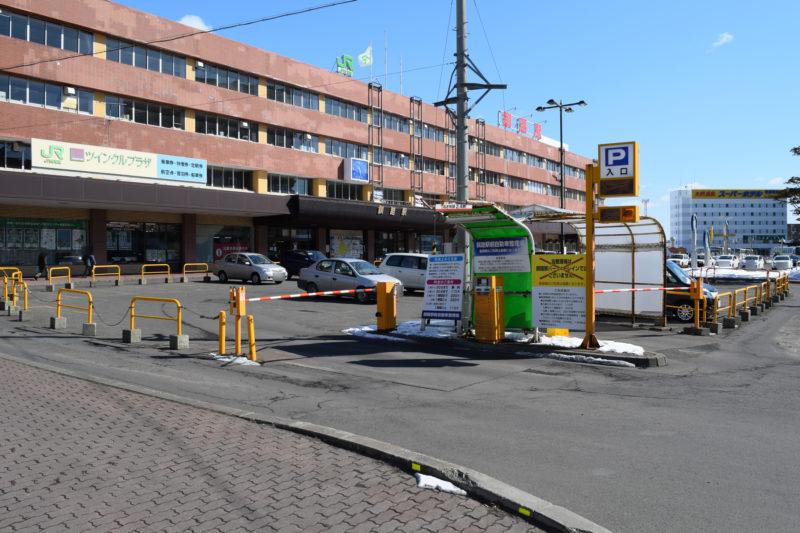 JR釧路駅前の時間貸し駐車場