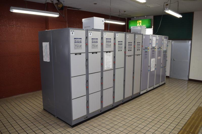 釧路駅トイレ付近コインロッカー