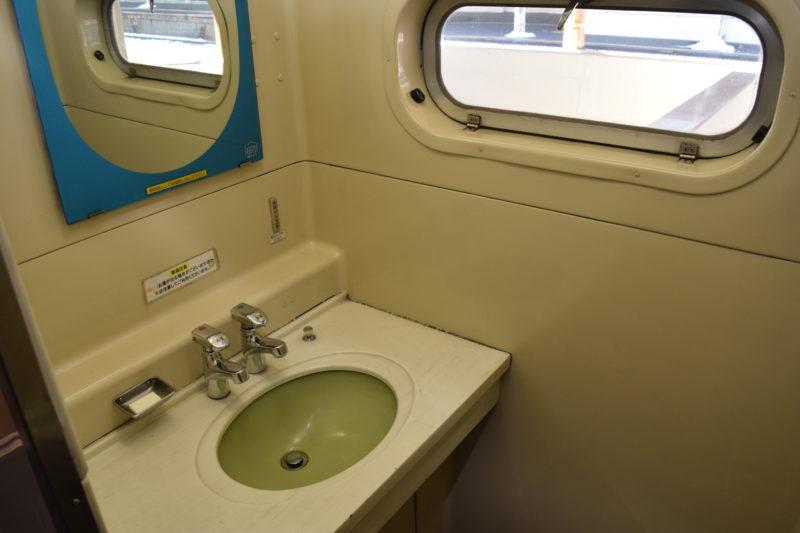 SL冬の湿原号洗面台