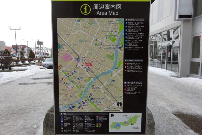 千歳駅・千歳市中心部周辺案内図
