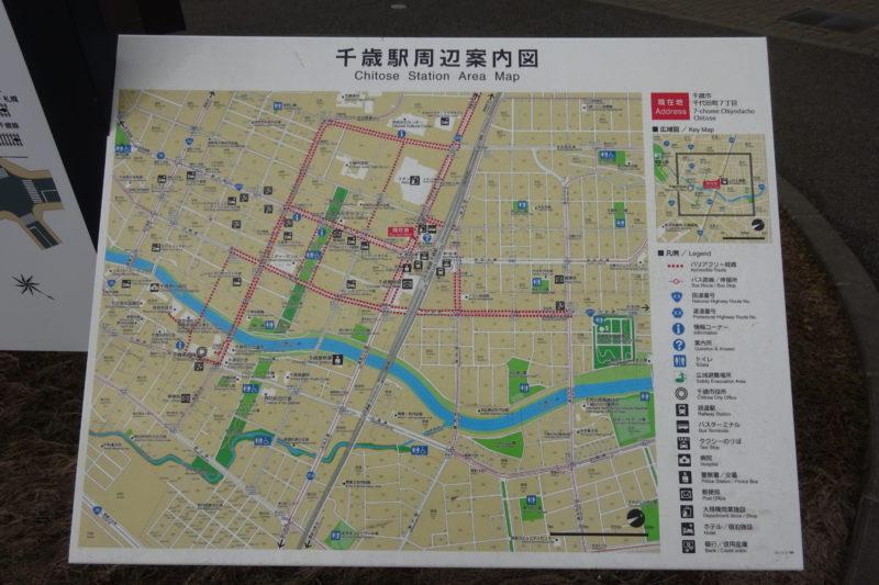 千歳駅周辺案内図