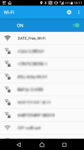 SSID「DATE_Free-Wi-Fi」を選択。