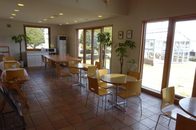 マザーズ白老スイーツ館カフェスペース