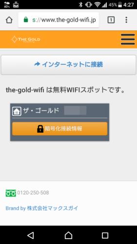 ブラウザを起動すると接続エントリーページが表示されます。「インターネットに接続」を選択。これでWi-Fiによるインターネット接続が完了となります。