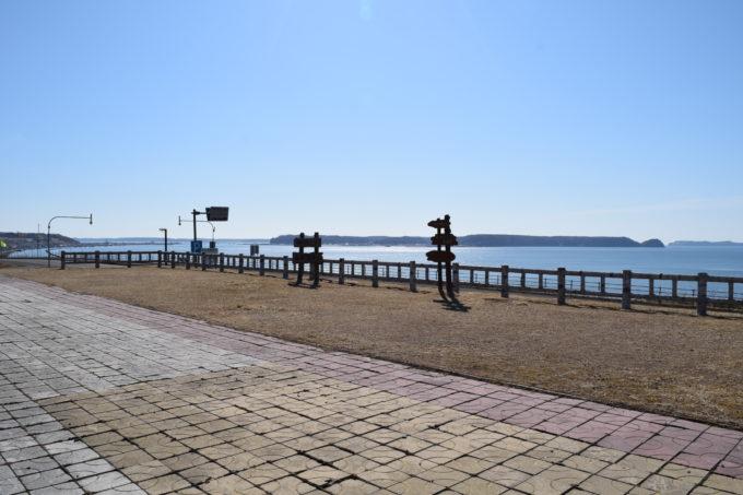 厚岸望洋台から厚岸市街方面
