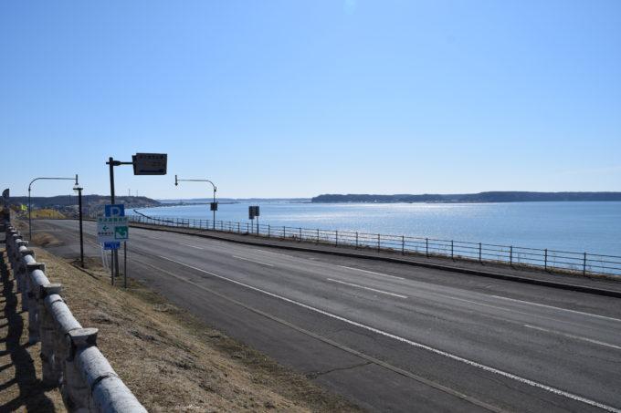 厚岸望洋台からの厚岸市街方面と厚岸湾