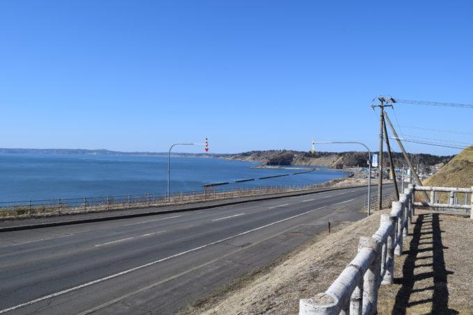 厚岸望洋台から門静漁港と苫多海岸